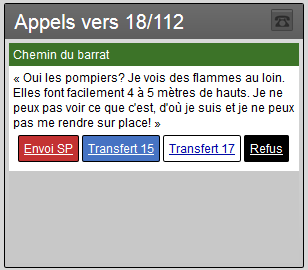 1er message d'un appel